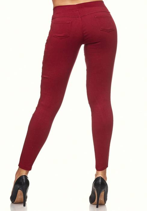 Damen Treggings Destroyed Used Look Stretch Hüfthose Ripped Leggings D2089 – Bild 20