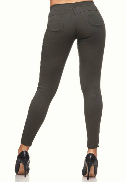 Damen Treggings Destroyed Used Look Stretch Hüfthose Ripped Leggings D2089 – Bild 25