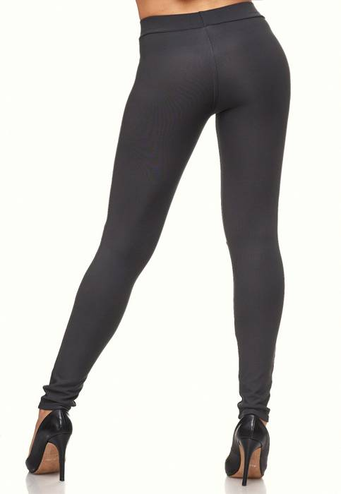 Damen Treggings Biker Look Zier-Zipper Leder Stretch Hüfthose Röhre Hose Jeggings D2090 – Bild 21