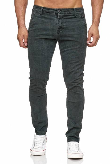 Herren Chino Hose Vintage Used Jeans Hose Gemustert H2105 – Bild 2