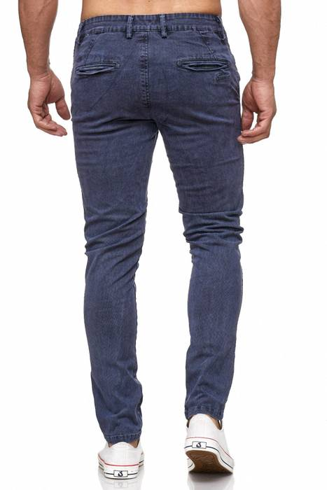 Herren Chino Hose Vintage Used Jeans Hose Gemustert H2105 – Bild 7