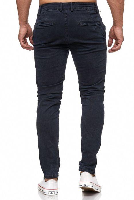Herren Chino Hose Vintage Used Jeans Hose Gemustert H2105 – Bild 10