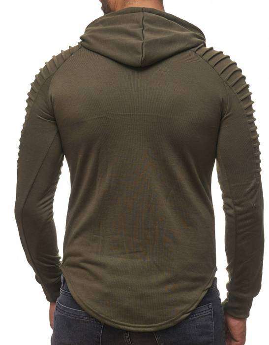 FORBEST Herren Kapuzen-Pullover Biker Destroyed Ripped Hoodie Long Sweat Langarm Shirt H2107 – Bild 10