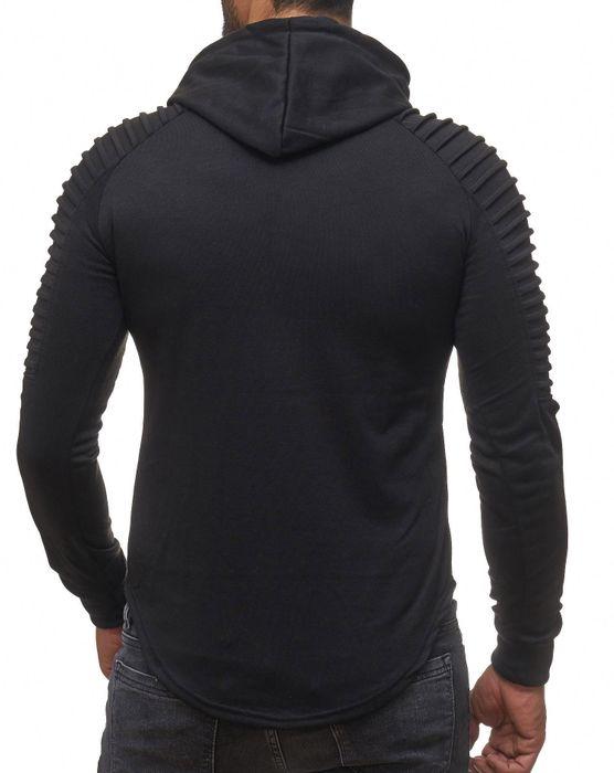 Herren Hoodie Biker Ripped Pullover Kapuze Long Sweat Shirt H2107 – Bild 13