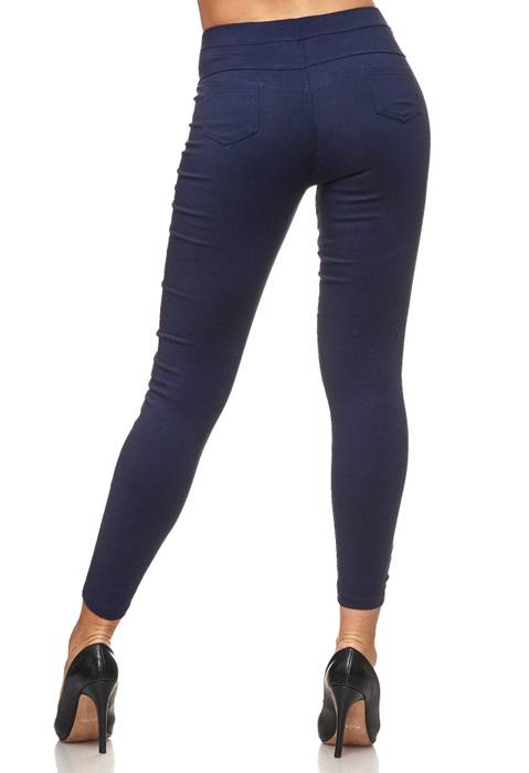Damen Treggings Hoher Bund Stretch Hose Skinny Jeggings D2117 – Bild 6