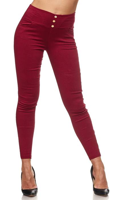 Damen Treggings Hoher Bund Stretch Hose Skinny Jeggings D2117 – Bild 17