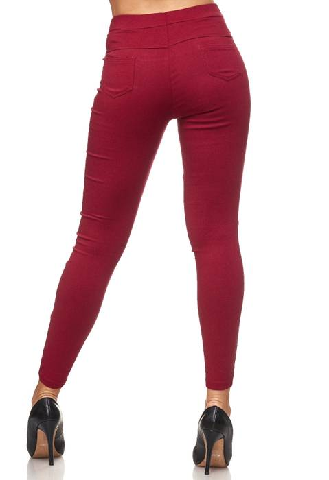 Damen Treggings Hoher Bund Stretch Hose Skinny Jeggings D2117 – Bild 21