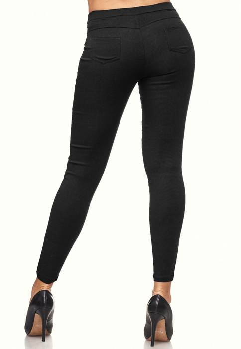 Damen Treggings Skinny Jeans Jeggings Stretch Hose D2119 – Bild 4