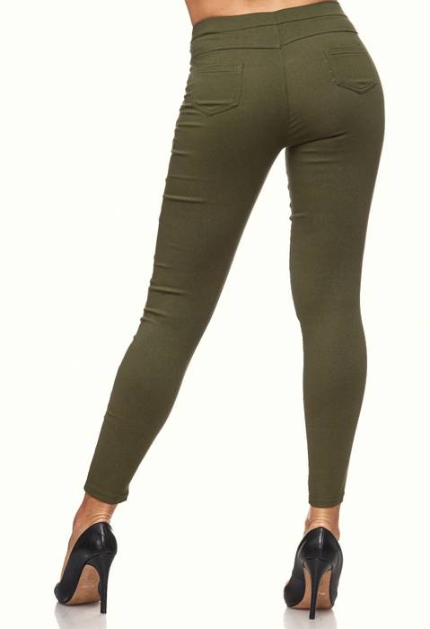 Damen Treggings Skinny Jeans Jeggings Stretch Hose D2119 – Bild 9