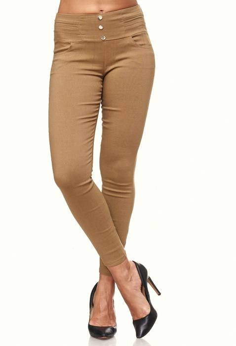 Damen Treggings Skinny Jeans Jeggings Stretch Hose D2119 – Bild 16