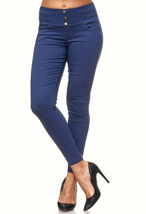 Damen Treggings Skinny Jeans Jeggings Stretch Hose D2119 – Bild 20