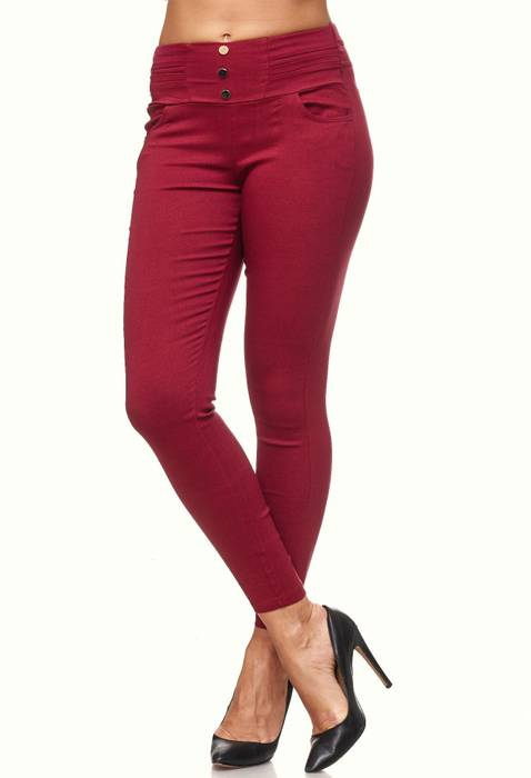 Damen Treggings Skinny Jeans Jeggings Stretch Hose D2119 – Bild 25