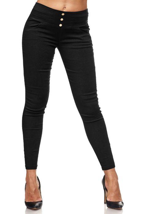 Damen Treggings Skinny Jeans Jeggings Stretch Hose D2119 – Bild 2