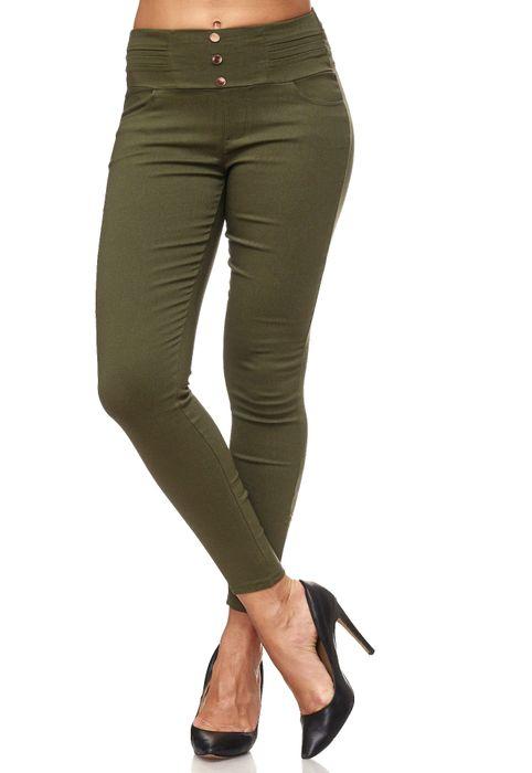 Damen Treggings Skinny Jeans Jeggings Stretch Hose D2119 – Bild 6