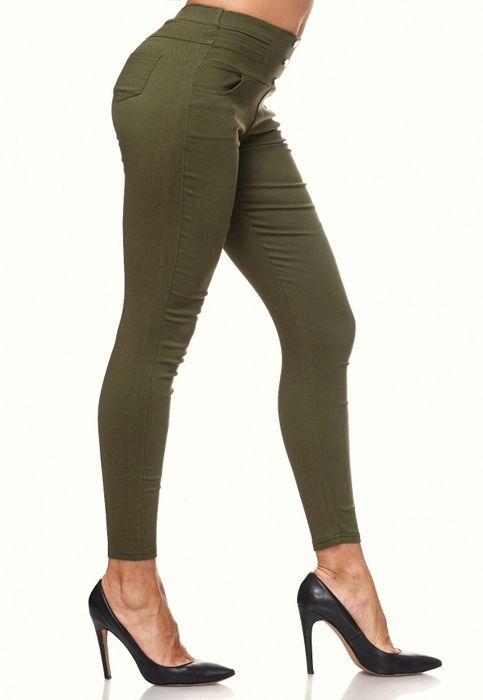 Damen Treggings Skinny Jeans Jeggings Stretch Hose D2119 – Bild 8