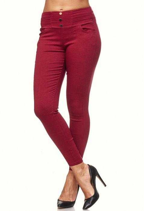 Damen Treggings Skinny Jeans Jeggings Stretch Hose D2119 – Bild 25