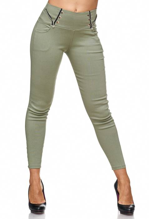 Damen Treggings Jeans Hose Jeggings Hüfthose D2122 – Bild 1