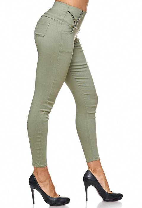 Damen Treggings Jeans Hose Jeggings Hüfthose D2122 – Bild 4