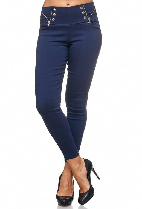 Damen Treggings Jeans Hose Jeggings Hüfthose D2122 – Bild 7