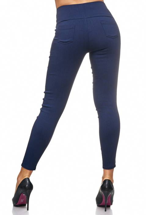 Damen Treggings Jeans Hose Jeggings Hüfthose D2122 – Bild 10