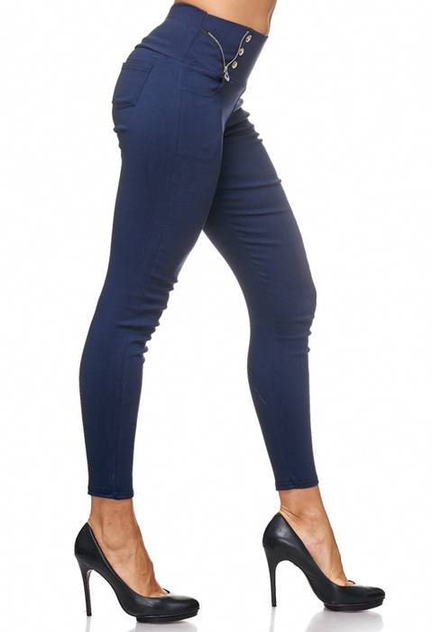 Damen Treggings Jeans Hose Jeggings Hüfthose D2122 – Bild 9