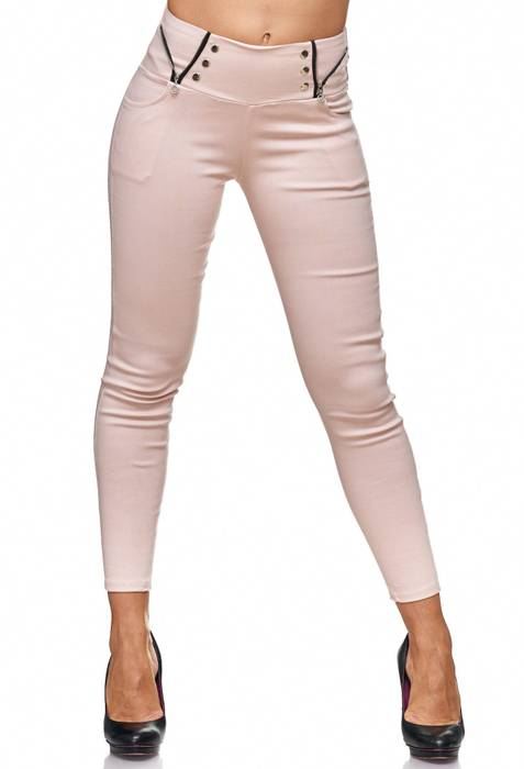 Damen Treggings Jeans Hose Jeggings Hüfthose D2122 – Bild 11