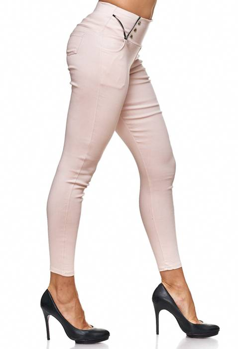 Damen Treggings Jeans Hose Jeggings Hüfthose D2122 – Bild 14