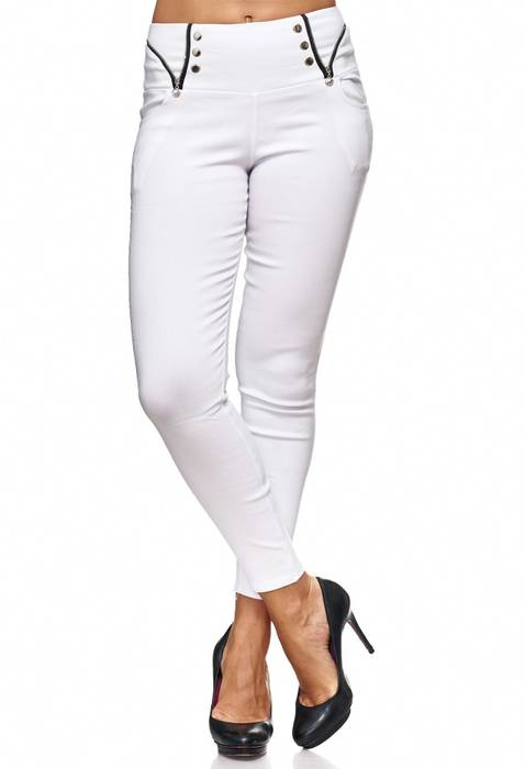 Damen Treggings Jeans Hose Jeggings Hüfthose D2122 – Bild 17
