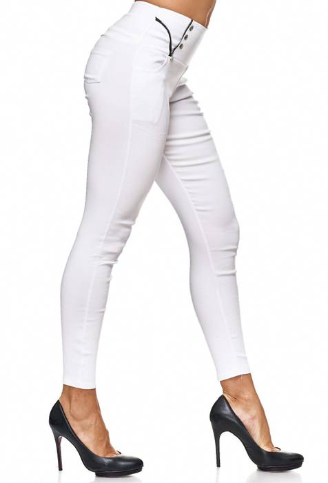 Damen Treggings Jeans Hose Jeggings Hüfthose D2122 – Bild 19