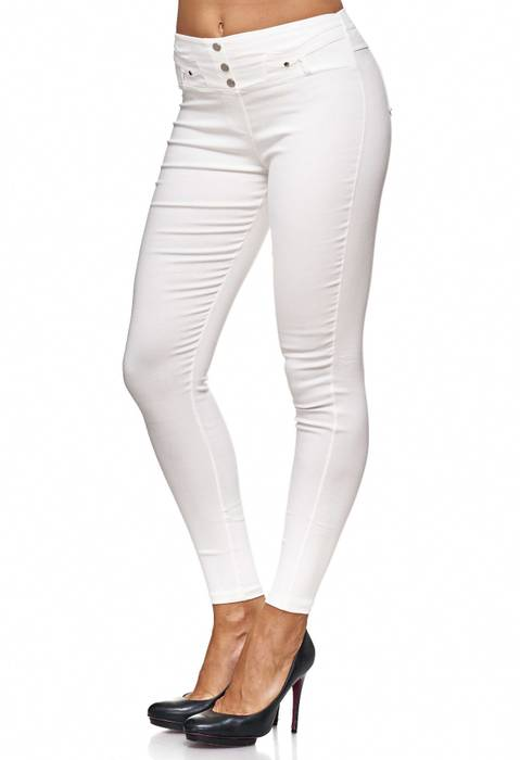 Damen Treggings Jeans Hose Jeggings Hüfthose D2123 – Bild 9