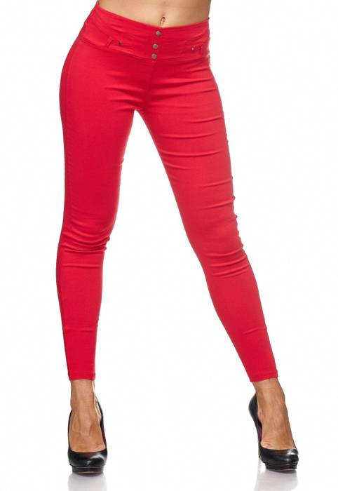 Damen Treggings Jeans Hose Jeggings Hüfthose D2123 – Bild 12