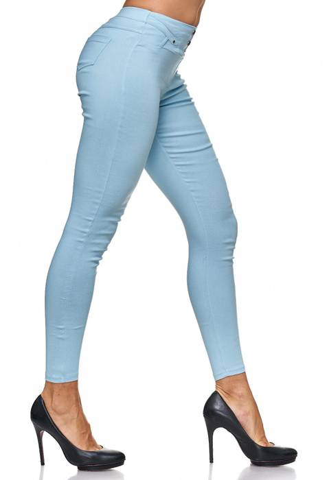 Damen Treggings Jeans Hose Jeggings Hüfthose D2123 – Bild 19