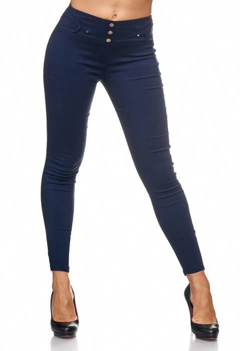 Damen Treggings Jeans Hose Jeggings Hüfthose D2123 – Bild 21