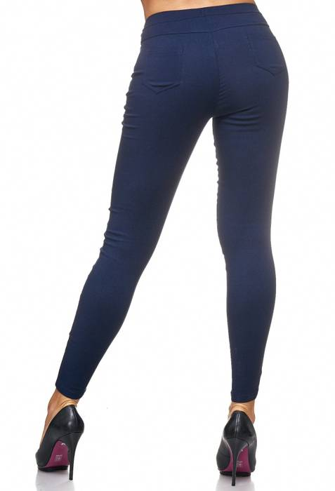 Damen Treggings Jeans Hose Jeggings Hüfthose D2123 – Bild 24