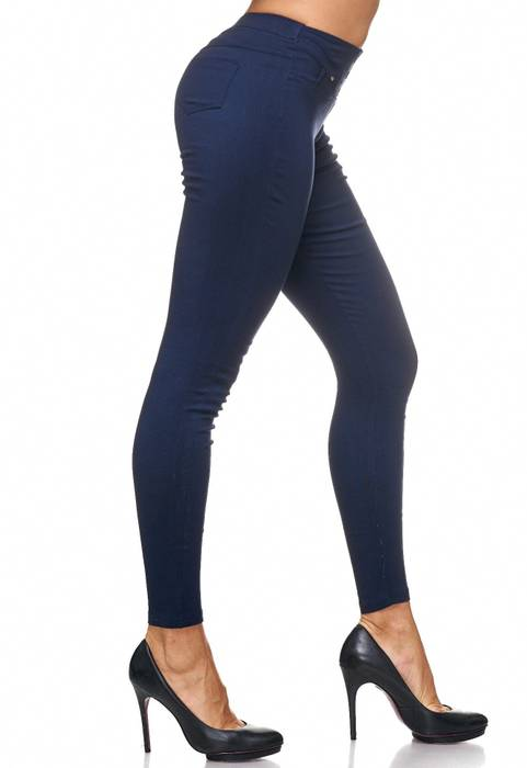 Damen Treggings Jeans Hose Jeggings Hüfthose D2123 – Bild 23