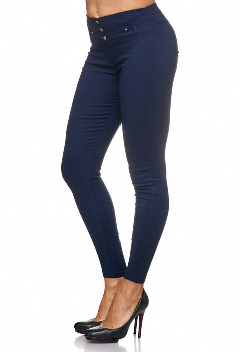 Damen Treggings Jeans Hose Jeggings Hüfthose D2123 – Bild 22