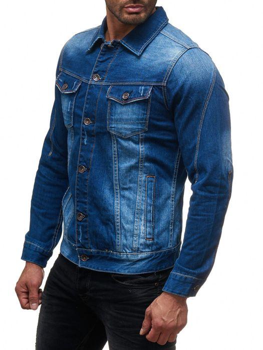 Herren Jeans Jacke Destroyed Jeanshemd Übergangsjacke H2138 – Bild 4