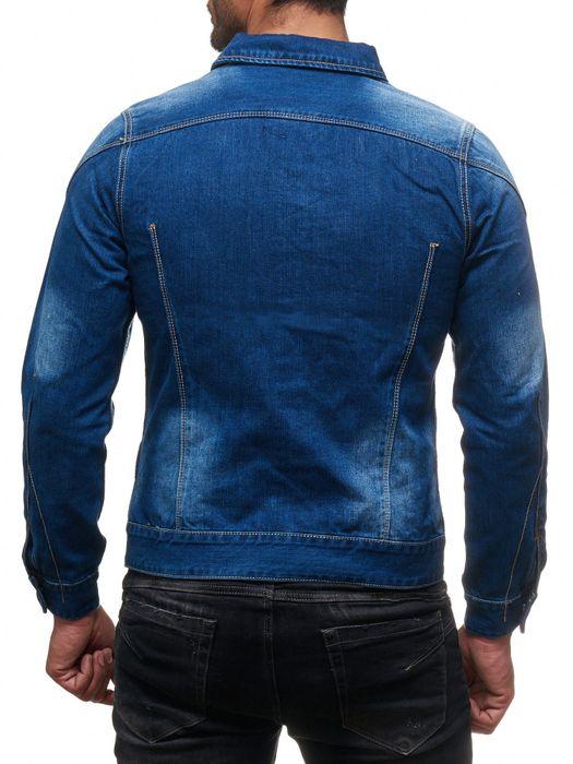 Herren Jeans Jacke Destroyed Jeanshemd Übergangsjacke H2138 – Bild 7