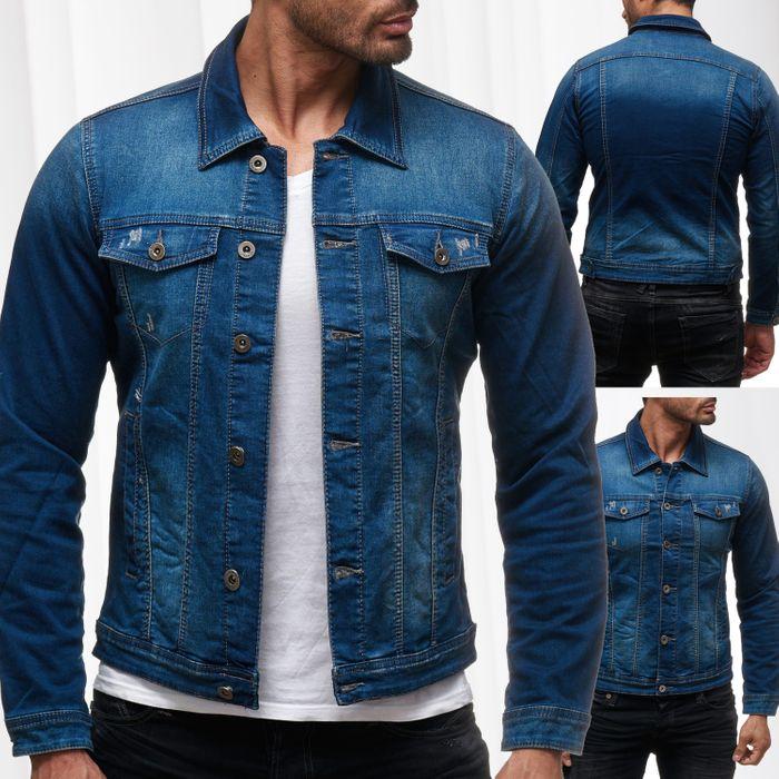 Herren Jeans Jacke Jeanshemd Destroyed Übergangsjacke H2139 – Bild 1
