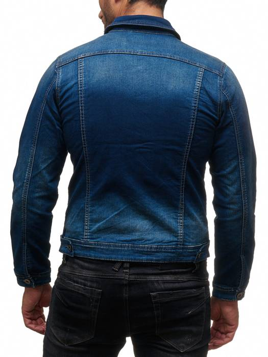Herren Jeans Jacke Jeanshemd Destroyed Übergangsjacke H2139 – Bild 6