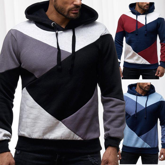 Sky Rebel Herren Hoodie Kapuzen Pullover Shirt Sweater Muster H2147