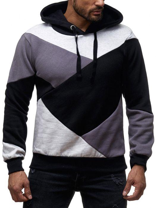 Sky Rebel Herren Hoodie Kapuzen Pullover Shirt Sweater Muster H2147 – Bild 5