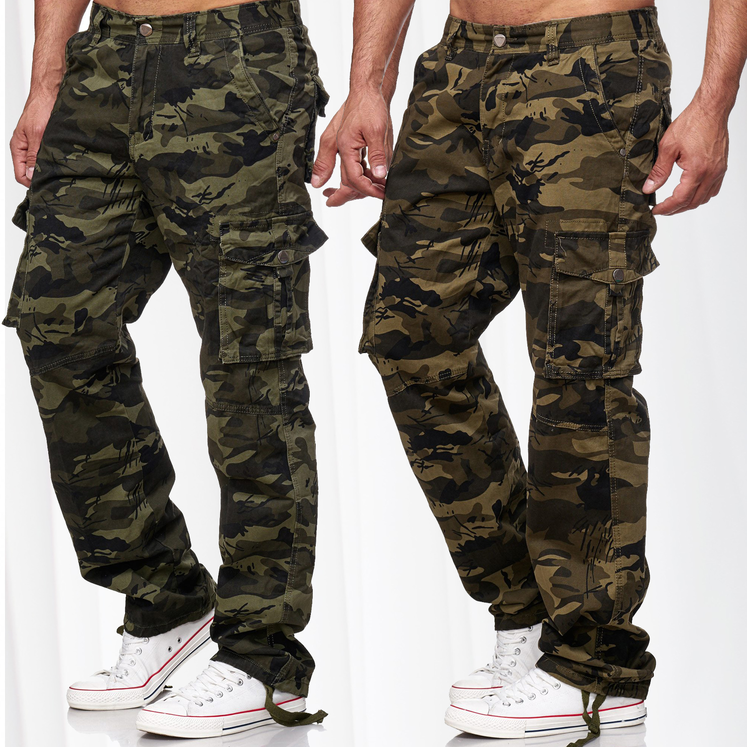 herren camouflage cargo hose tarnmuster cargohose milit r freizeithose army neu ebay. Black Bedroom Furniture Sets. Home Design Ideas
