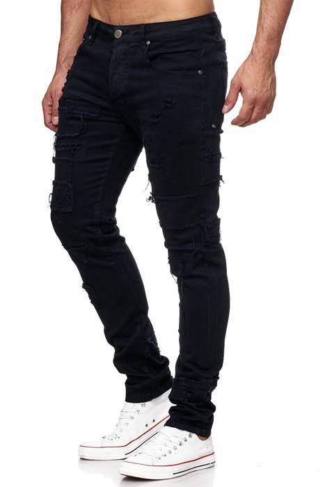 Herren Jeans Ripped Destroyed Denim Hose H2150 – Bild 3