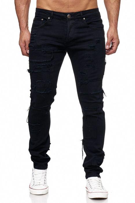 Herren Jeans Ripped Destroyed Denim Hose H2150 – Bild 2