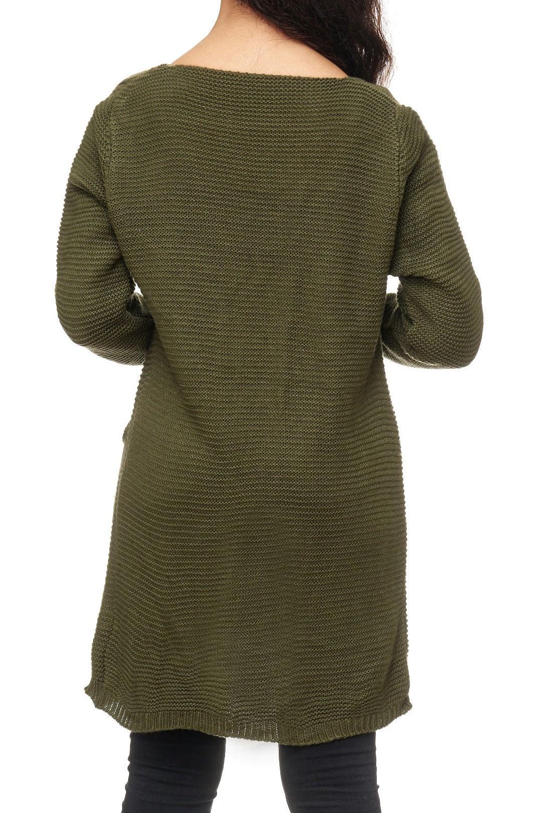 damen long cardigan strickweste jacke umhang pullover weste sweater lang neu ebay. Black Bedroom Furniture Sets. Home Design Ideas