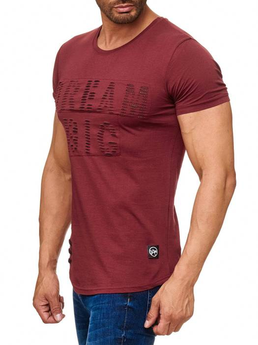 Herren T Shirt Ripped Long Tee Destroyed H2165 – Bild 3