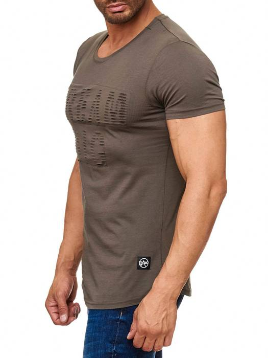 Herren T Shirt Ripped Long Tee Destroyed H2165 – Bild 9