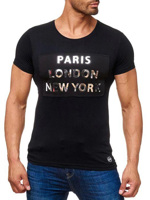 Herren T Shirt METROPOLIS Front Print H2167 – Bild 2