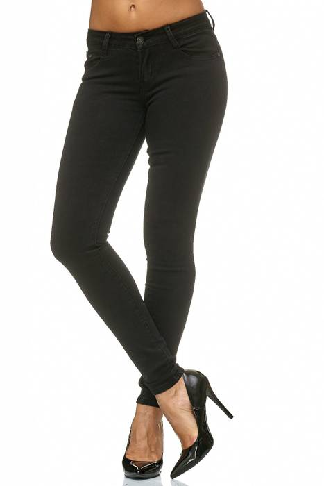 Damen Treggings Stretch Jeans Skinny Hüfthose D2182 – Bild 3